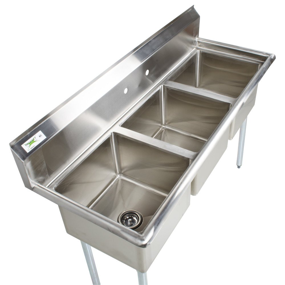 Commercial Sink 3 Compartment : Regency 60