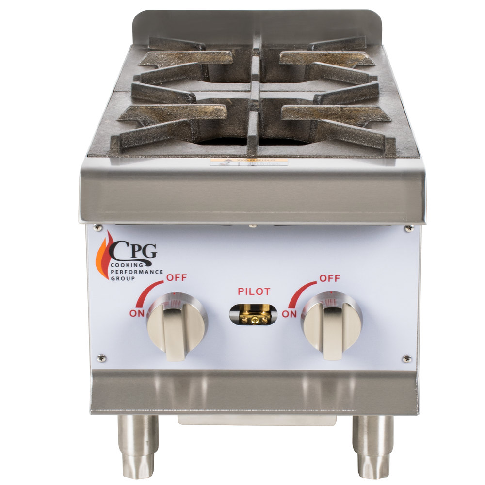 ... Performance Group HP212 2 Burner Gas Countertop Hot Plate - 44,000 BTU