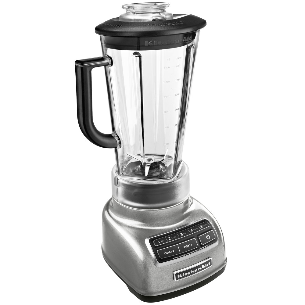 kitchenaid ksb1575cu contour silver diamond 60 oz five speed blender
