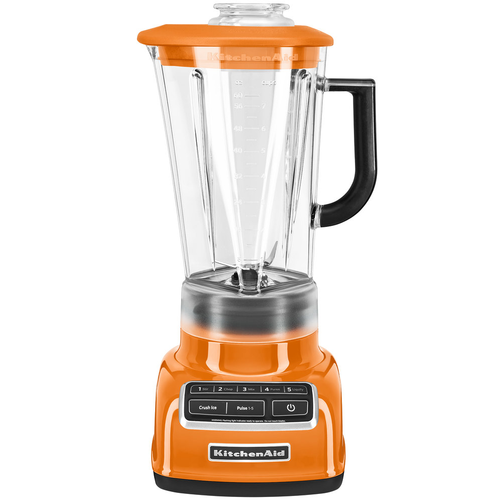 kitchenaid ksb1575tg tangerine diamond 60 oz five speed blender