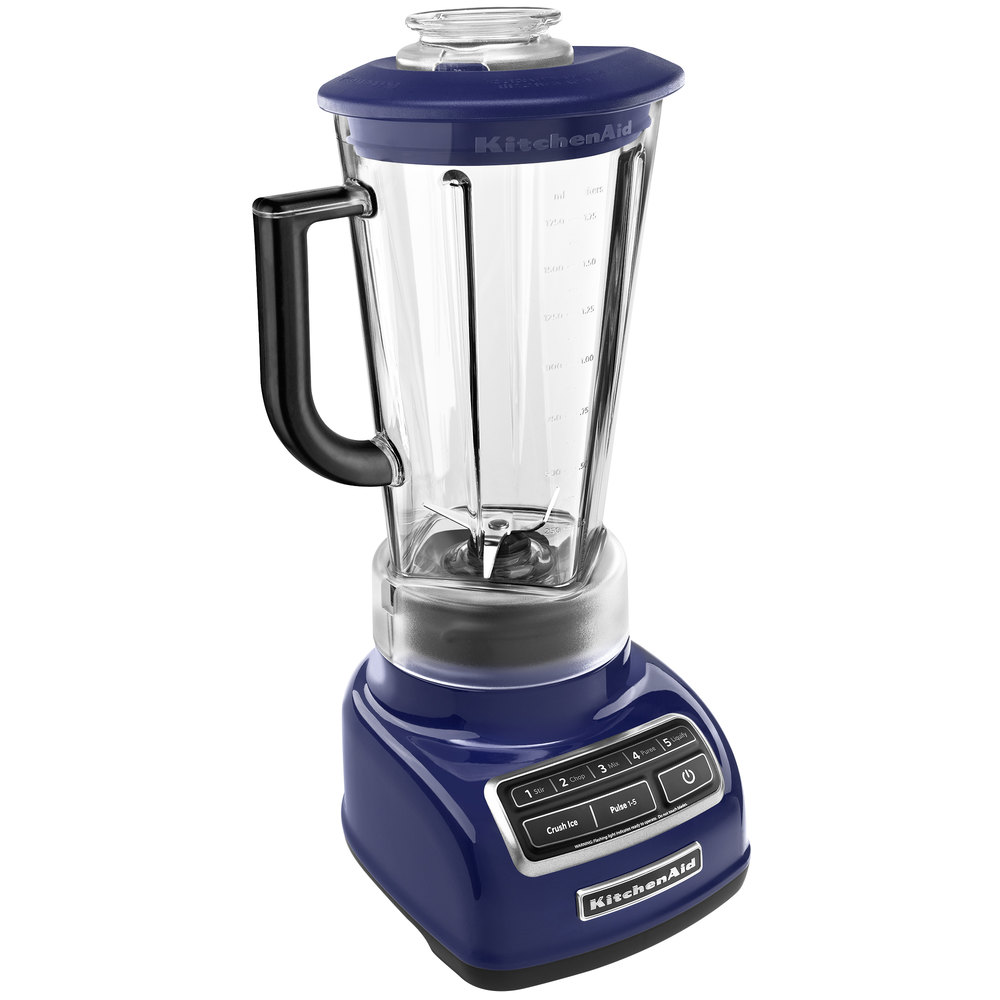 kitchenaid ksb1575bu cobalt blue diamond 60 oz five speed blender