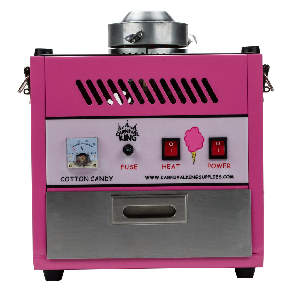 carnival king ccm28 cotton candy machine with 28 stainless steel bowl 110v. Black Bedroom Furniture Sets. Home Design Ideas
