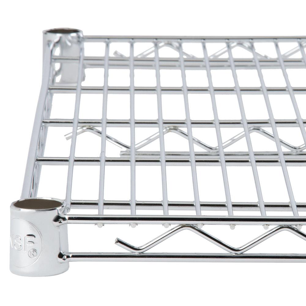 24 inch deep shelves - Regency 24 Inch X 48 Inch Nsf Chrome Wire Shelf