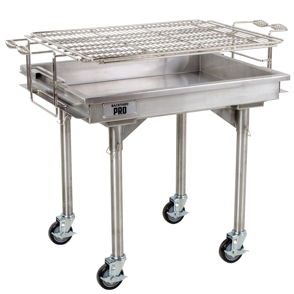 Backyard pro quot stainless steel charcoal grill with