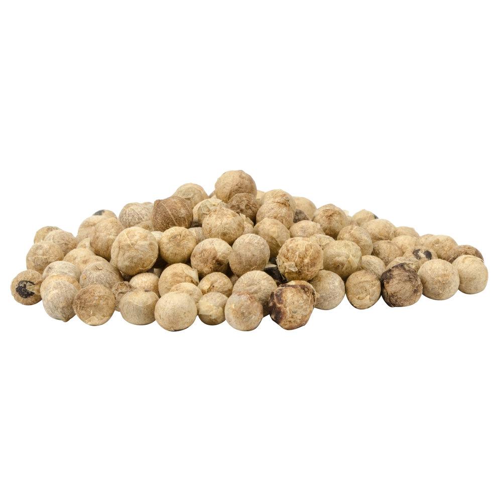 Whole white peppercorns