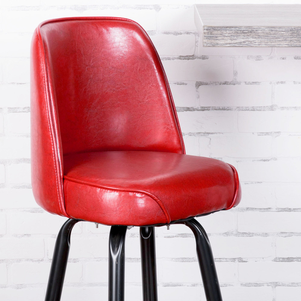 Lancaster Table Amp Seating Deluxe Crimson Barstool With 19