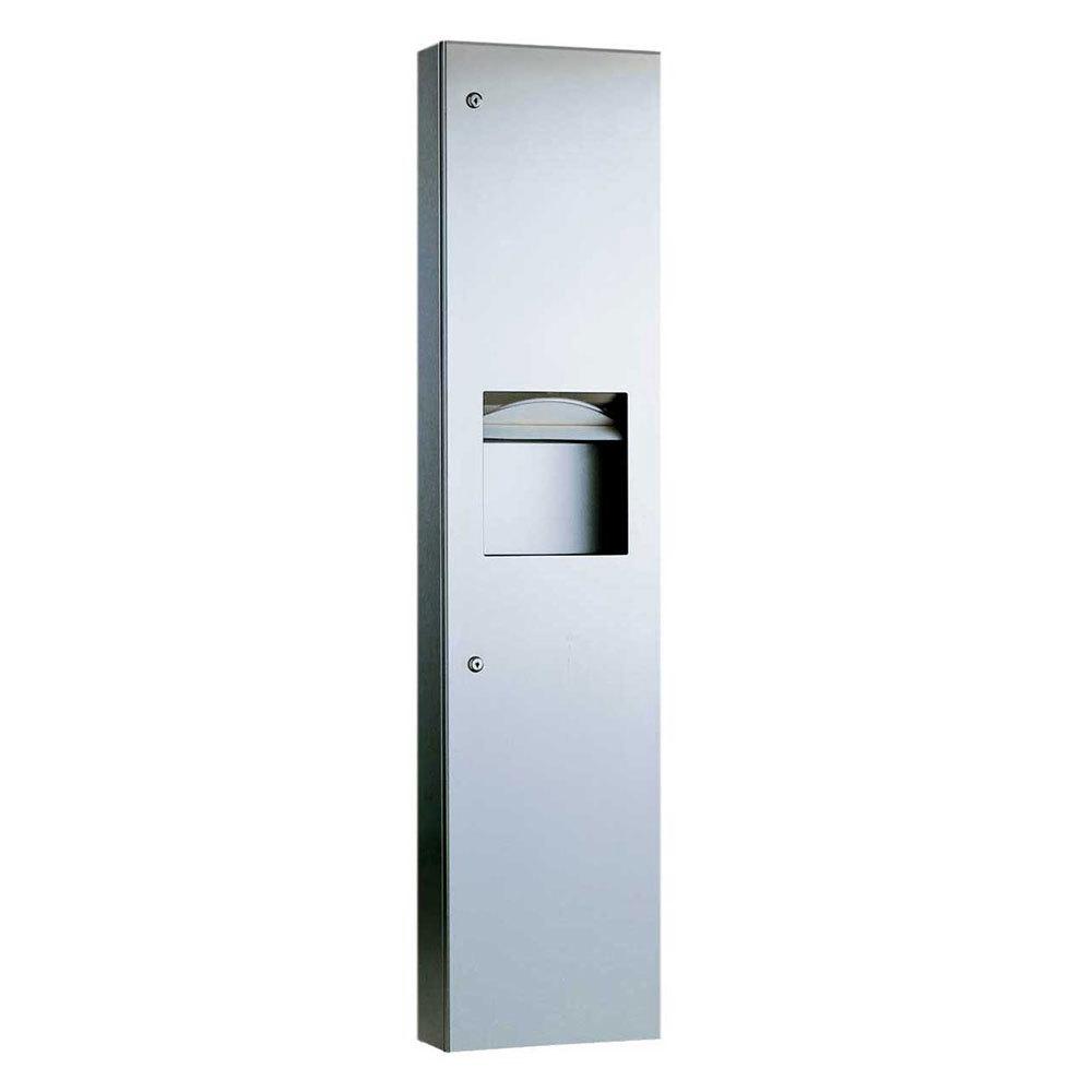 Bobrick B 38032 Trimlineseries Semi Recessed Paper Towel Dispenser Waste Receptacle