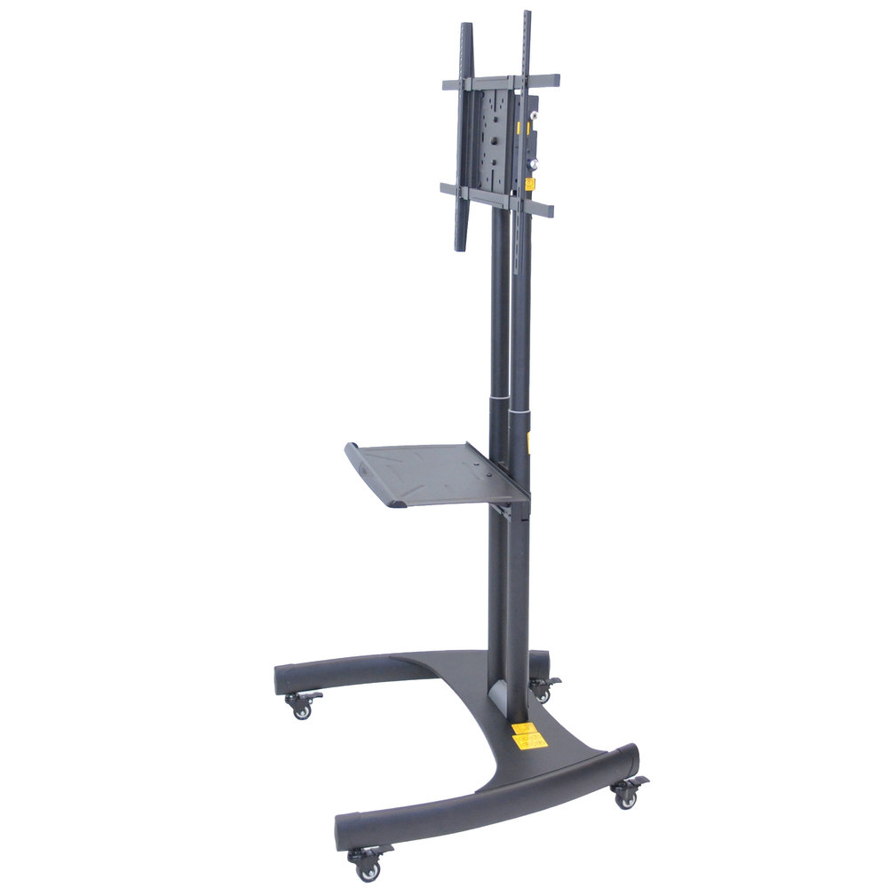 luxor h wilson fp3500 adjustable height tv cart with. Black Bedroom Furniture Sets. Home Design Ideas