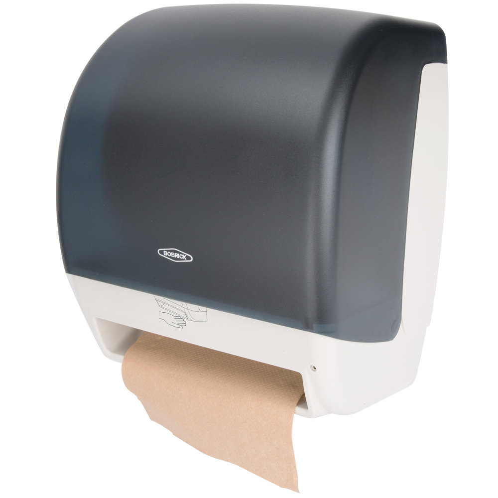 Commercial Touchless Paper Towel Dispenser ~ Bobrick b automatic universal navy blue surface