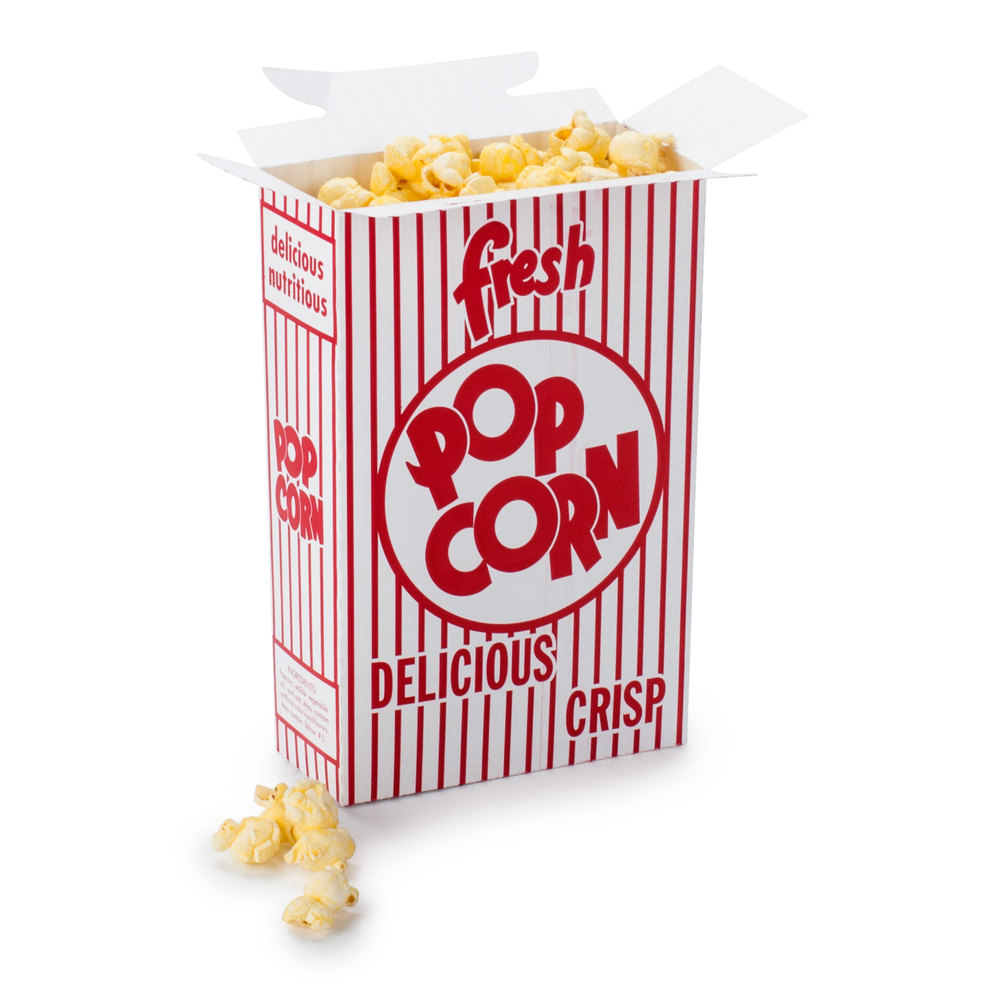 Great Western 11074 2.8 oz. Popcorn Box 250 / Case