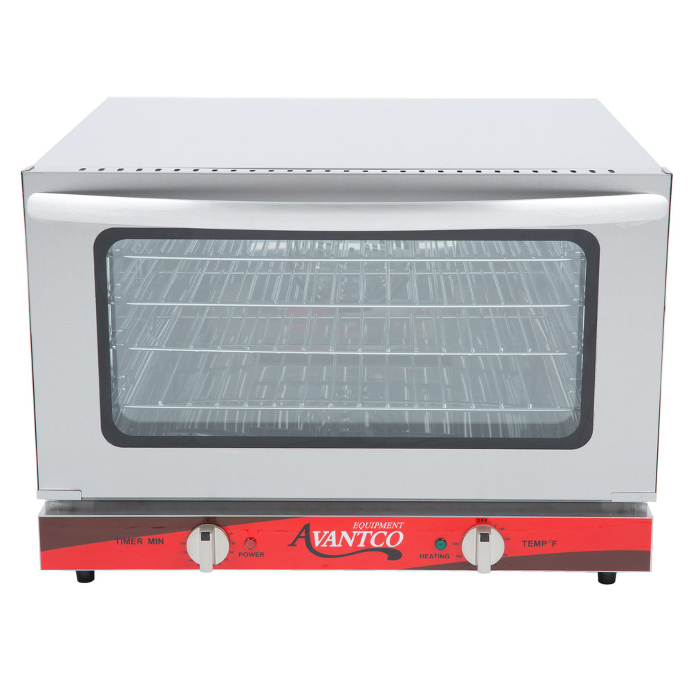 Countertop Oven Size : Avantco CO-16 Half Size Countertop Convection Oven, 1.5 Cu. Ft. - 120V ...