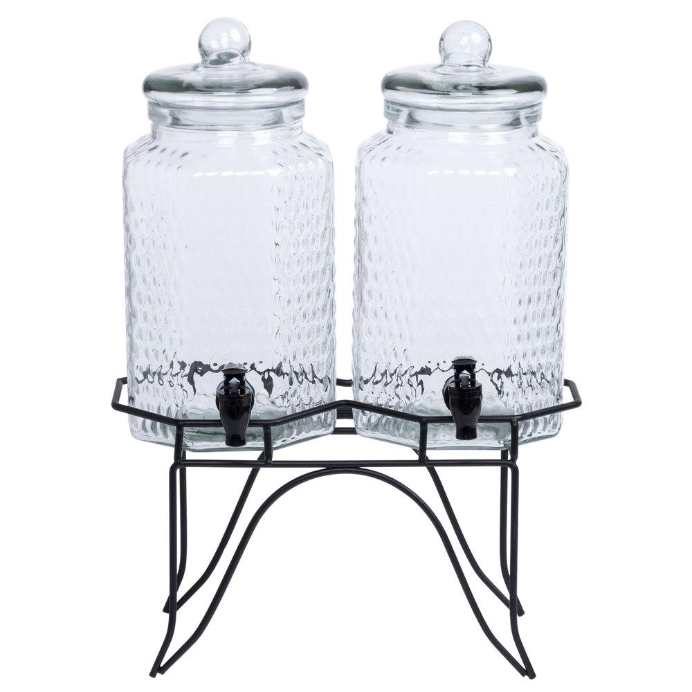 metal stand for core double 1 gallon glass beverage dispenser. Black Bedroom Furniture Sets. Home Design Ideas