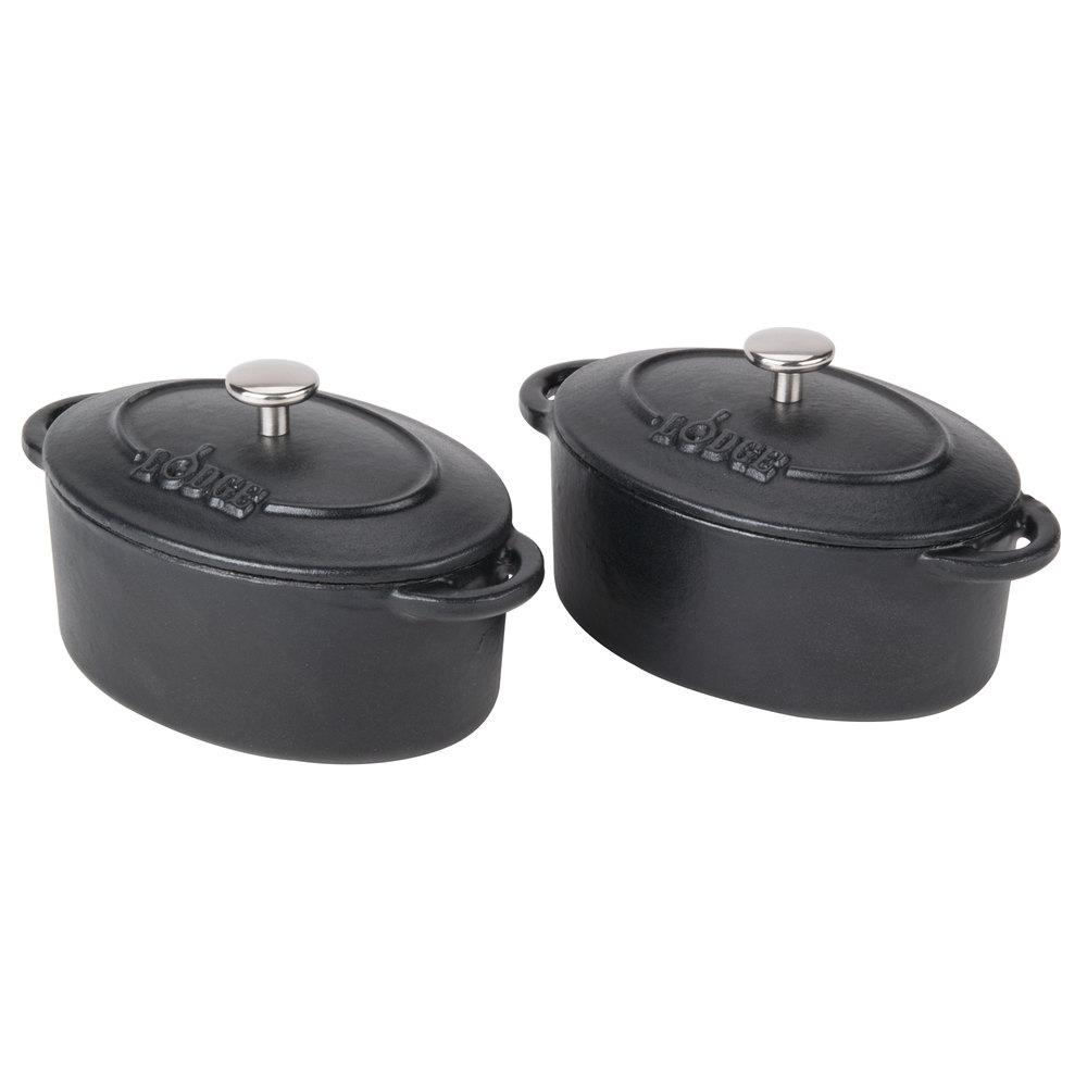 Lodge ecmco oz matte black oval color enamel cast