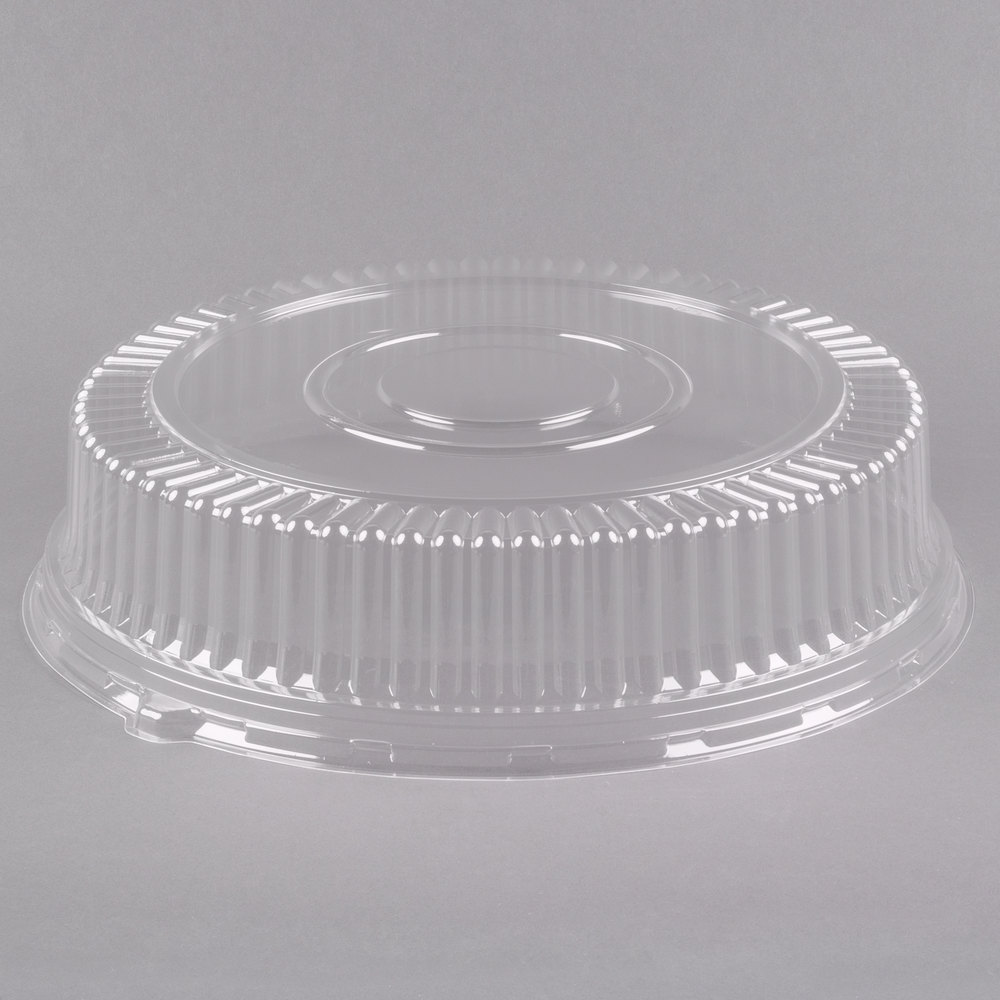 Visions 18 Quot Clear Pet Plastic Round Catering Tray High