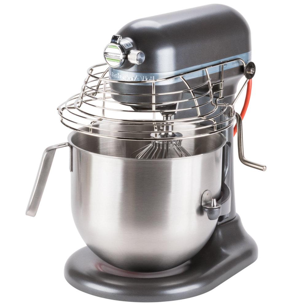 Pewter Kitchenaid 8 Qt Commercial Mixer Bowl Guard Ksmc895dp Webstaurantstore
