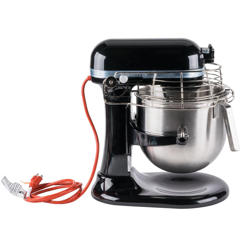 Black Kitchenaid 8 Qt Commercial Mixer Amp Bowl Guard