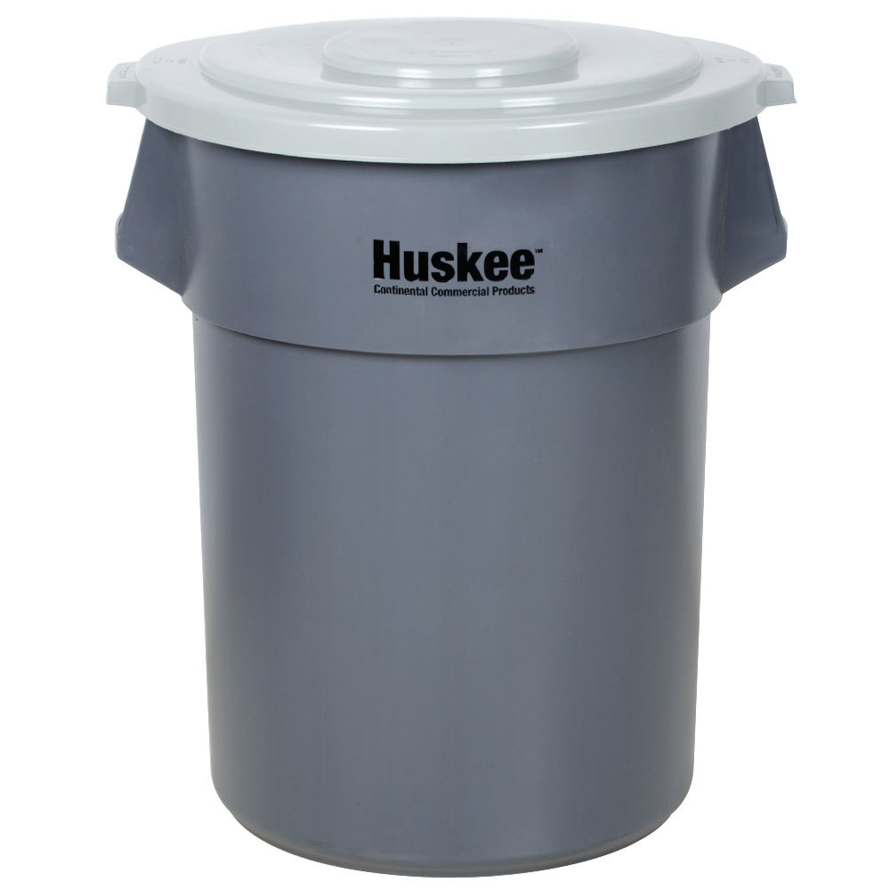 continental huskee 55 gallon gray mobile trash can kit. Black Bedroom Furniture Sets. Home Design Ideas