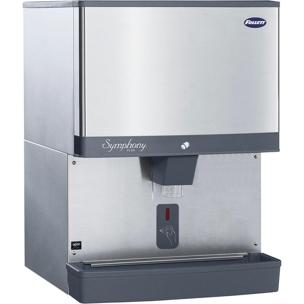 ... lb. Manual Fill Countertop Ice Dispenser with SensorSAFE Dispensing