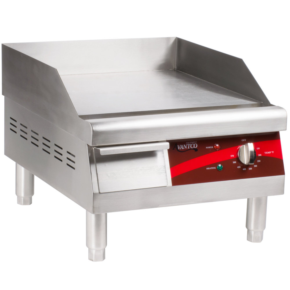 Electric Countertop Stove With Griddle : Avantco EG16N 16