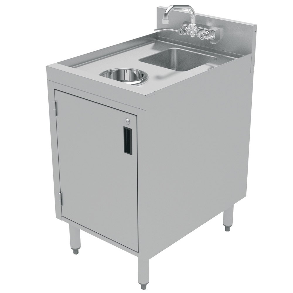 ... 18 Stainless Steel Cabinet with Dump Sink and Waste Chute - 18