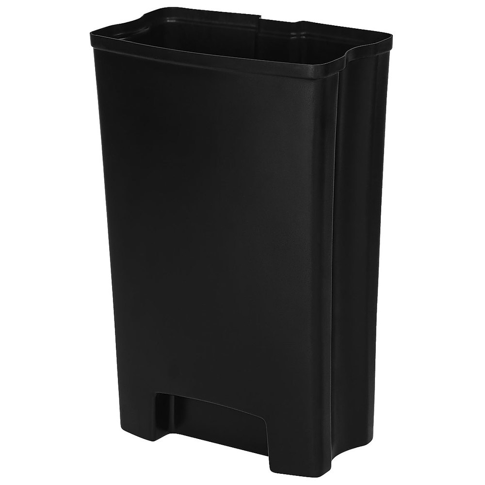 rubbermaid 1900715 slim jim black rigid plastic liner for 13 gallon stainless steel front step. Black Bedroom Furniture Sets. Home Design Ideas