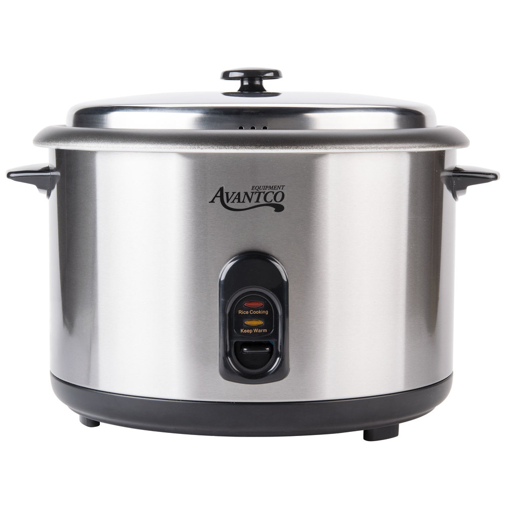 Commercial Electric Rice Cooker ~ Avantco rc cup raw electric rice cooker
