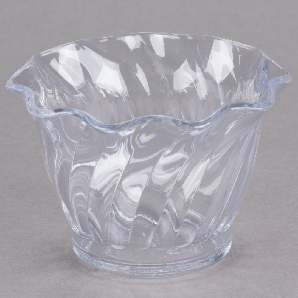 cambro srb5152 5 oz clear plastic swirl bowl 24 case. Black Bedroom Furniture Sets. Home Design Ideas