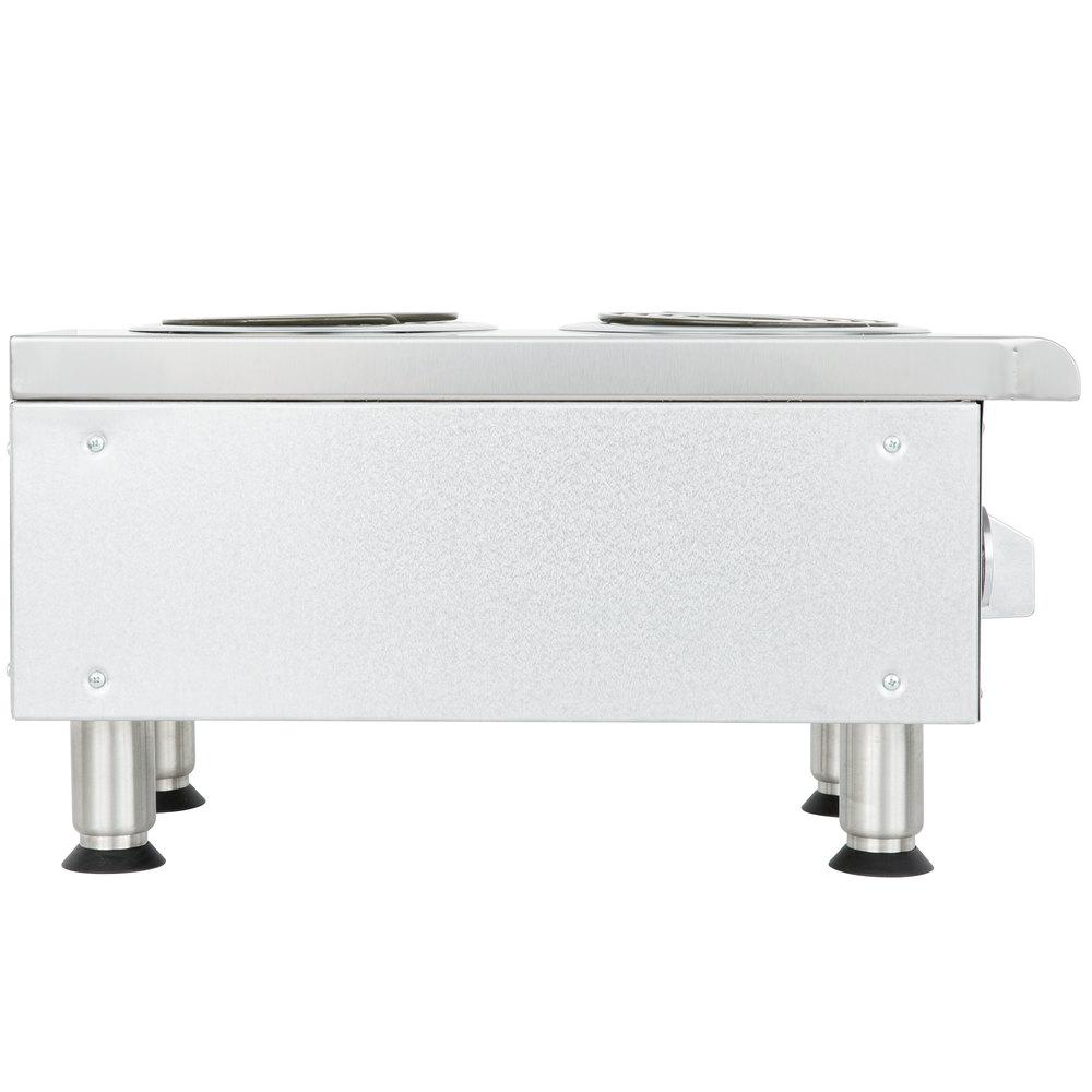 240 Volts APW Wyott EHPi Dual Burner Countertop Electric Range