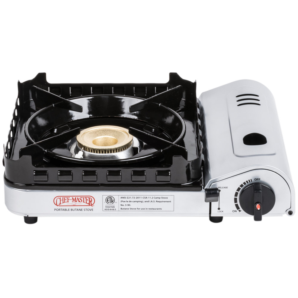Countertop Stove Burners : Chef Master 90019 1-Burner Butane Countertop Range - 15,000 BTU