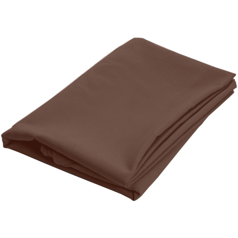 120 round brown 100 polyester hemmed cloth table cover for 120 round table cover