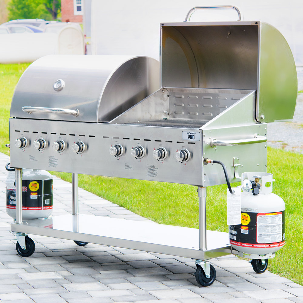 backyard pro c3h860del deluxe 60 stainless steel outdoor grill with
