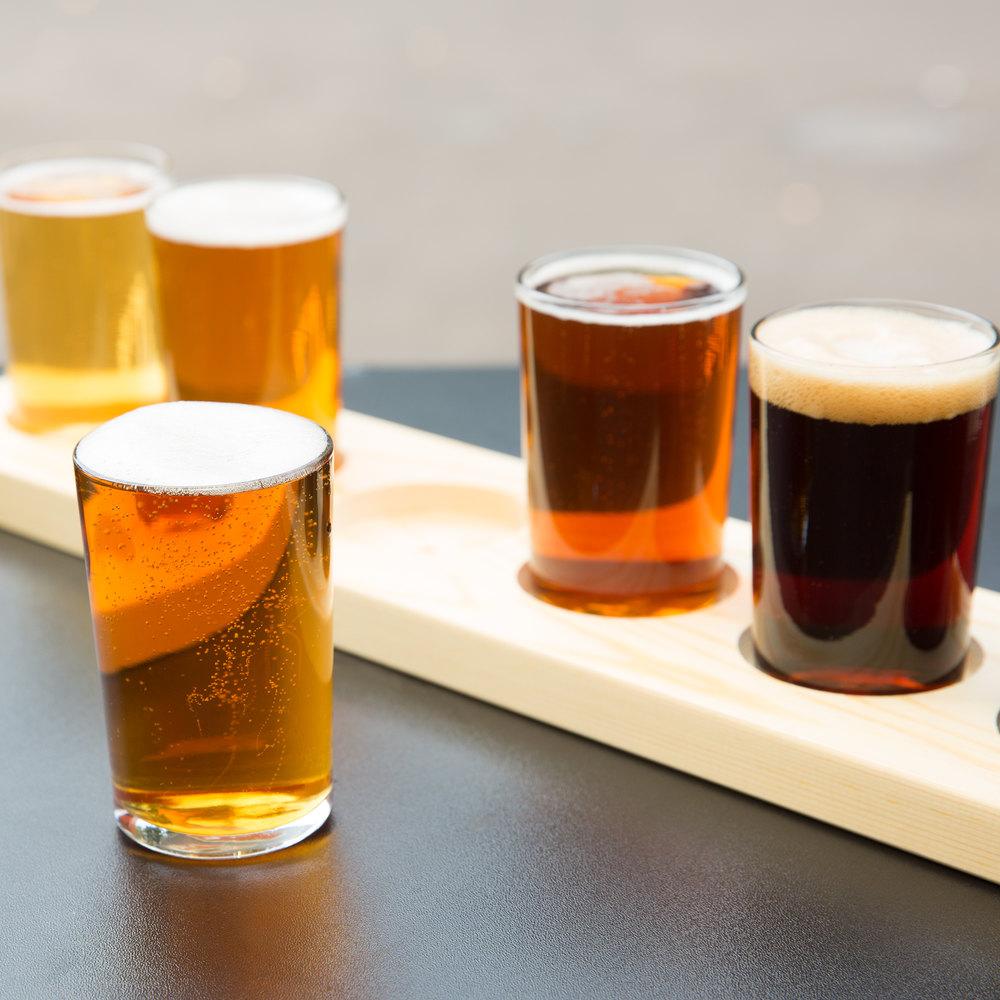 libbey craft brews beer flight 6 glass set with natural. Black Bedroom Furniture Sets. Home Design Ideas