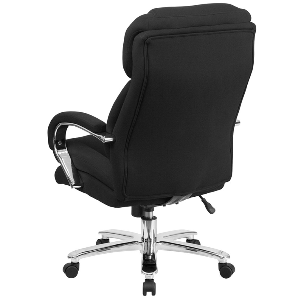 high back black fabric intensive use multi shift swivel