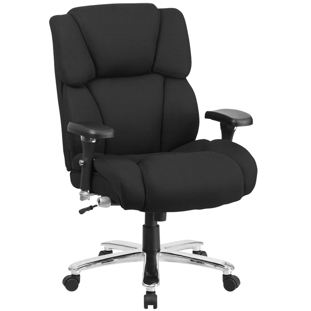 high back black fabric intensive use multi shift swivel office chair