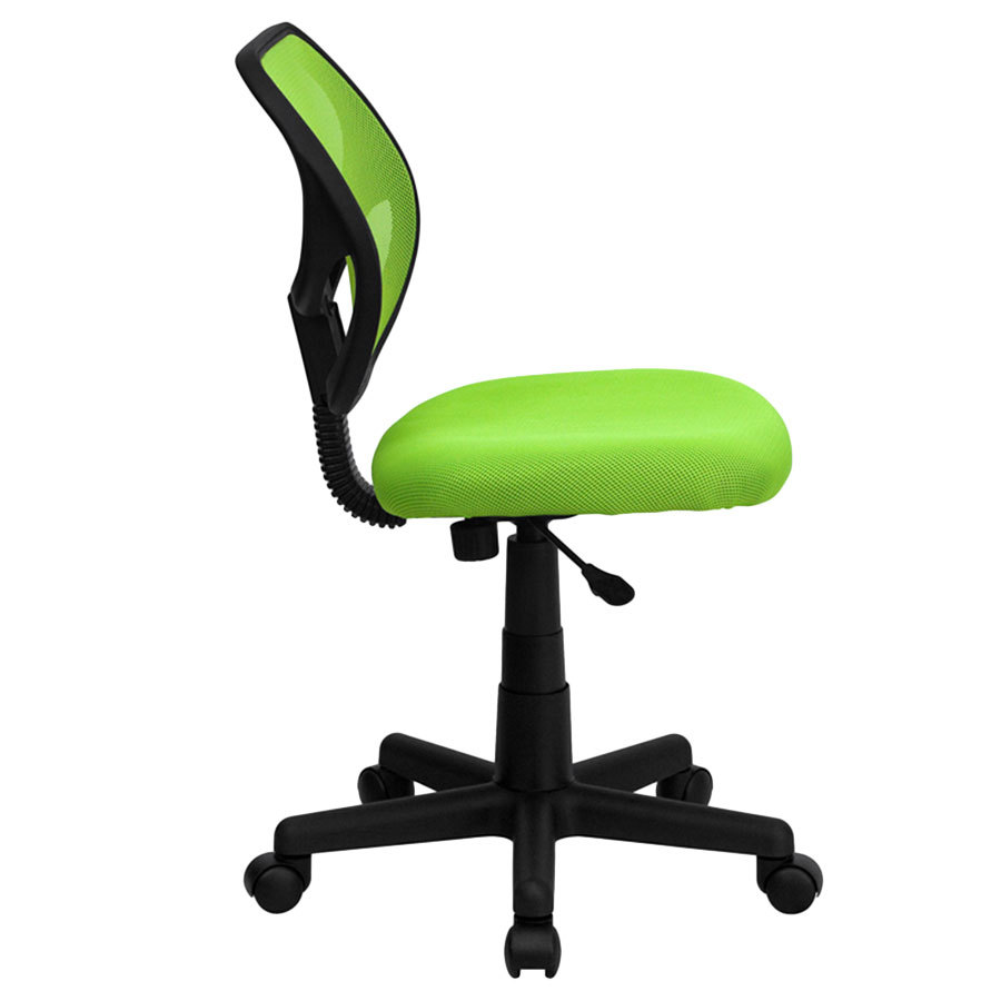 Mid Back Green Mesh Office Task Chair With Nylon Frame