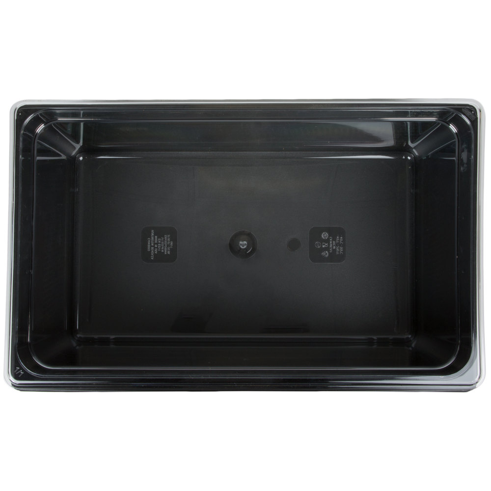 Full Size Black Rectangular Hammered Ice Display