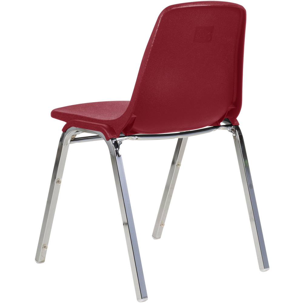 national seating 8118 chrome metal stacking chair