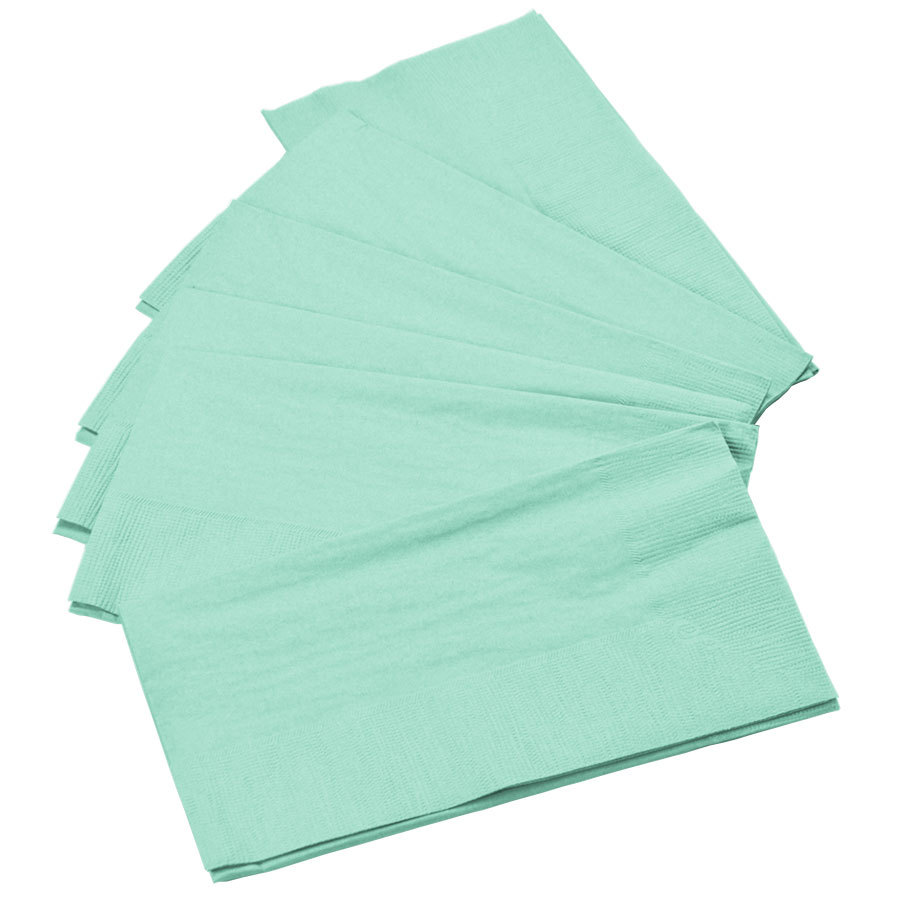 Mint Turquoise Green Brown Eclectic Ethnic Look Napkin A good celebration is as much about the presentation as it is about food. Serve up the party with custom personalized paper napkins that look good tucked in the collar or draped over your lap.