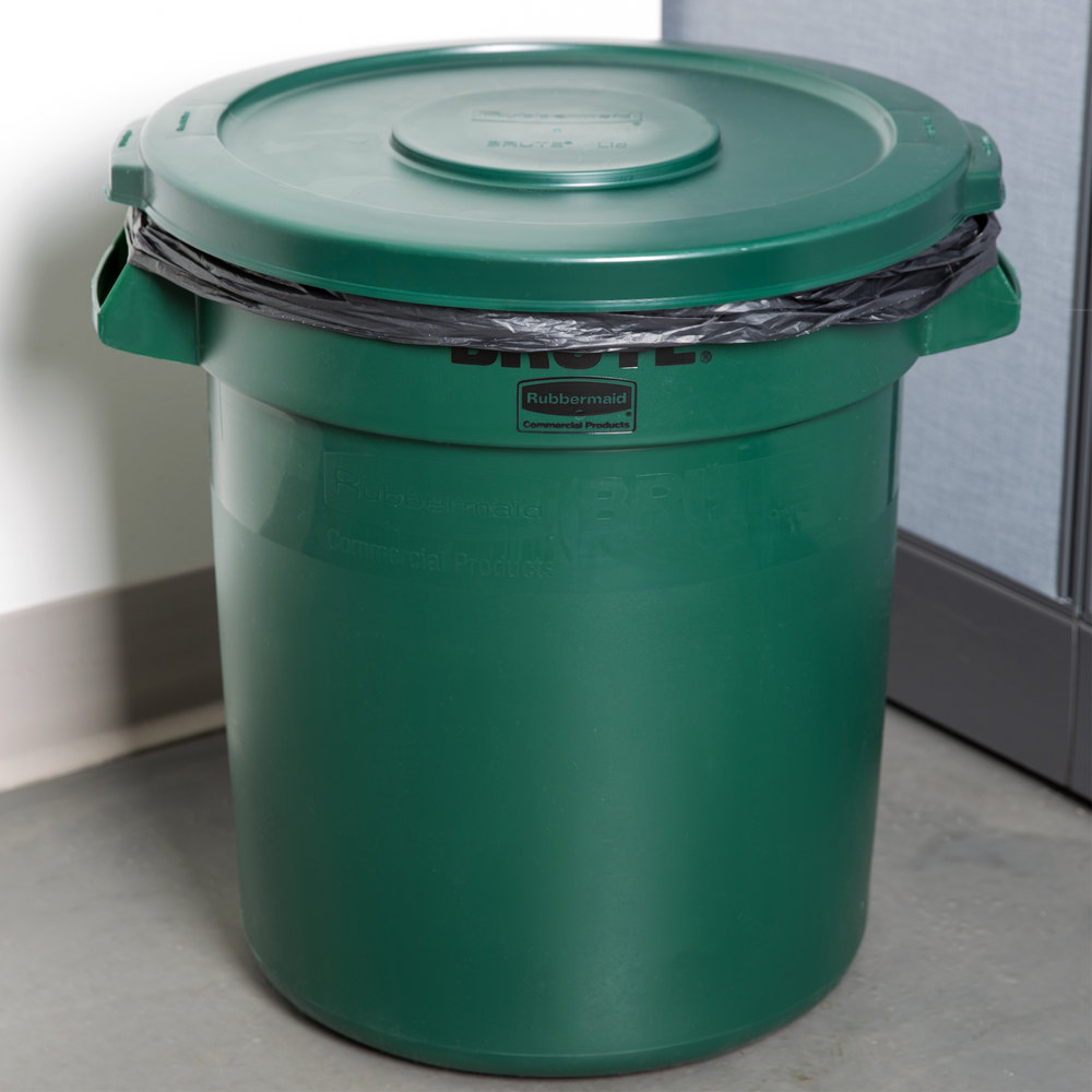 rubbermaid brute 10 gallon green trash can and lid. Black Bedroom Furniture Sets. Home Design Ideas