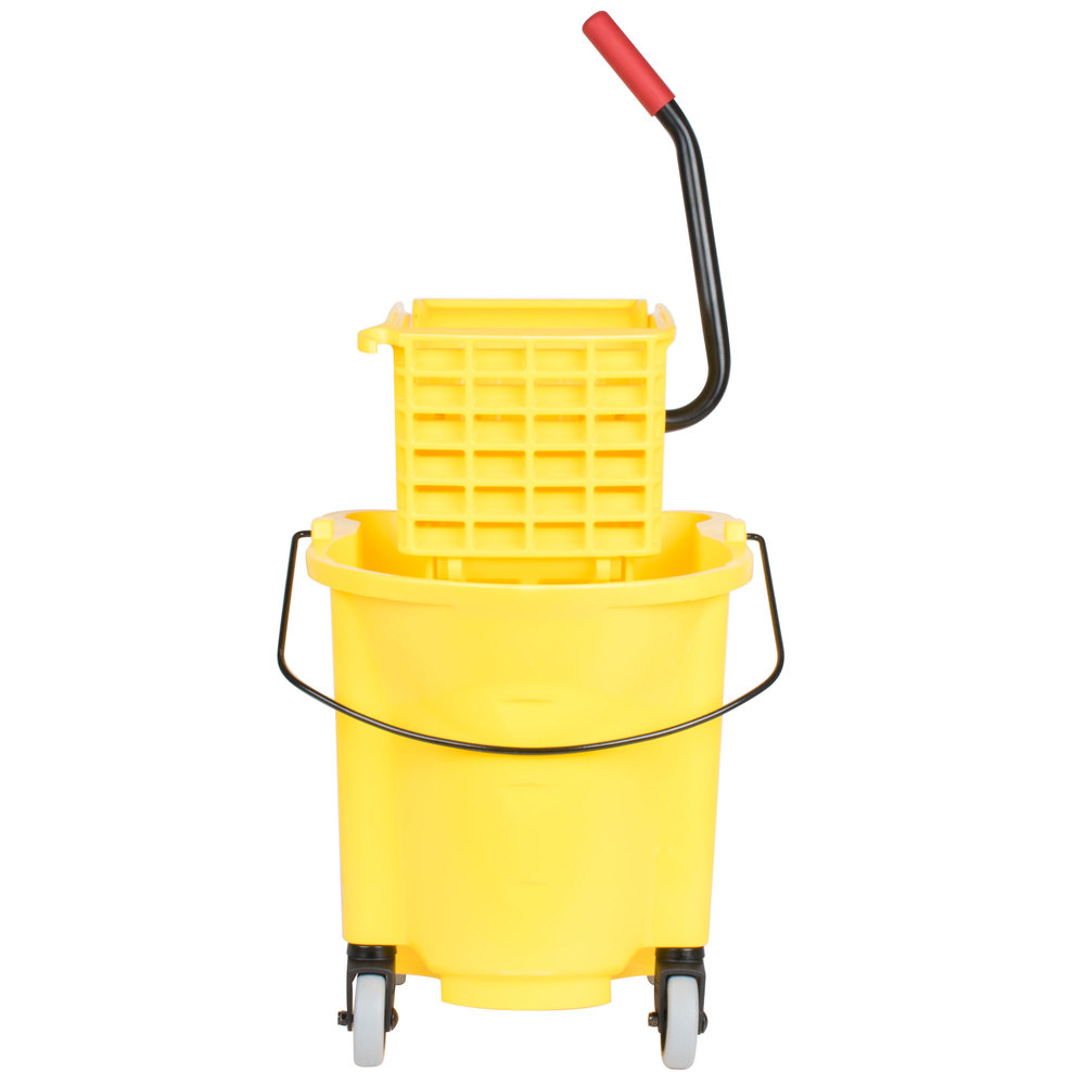 how to use a mop bucket with wringer