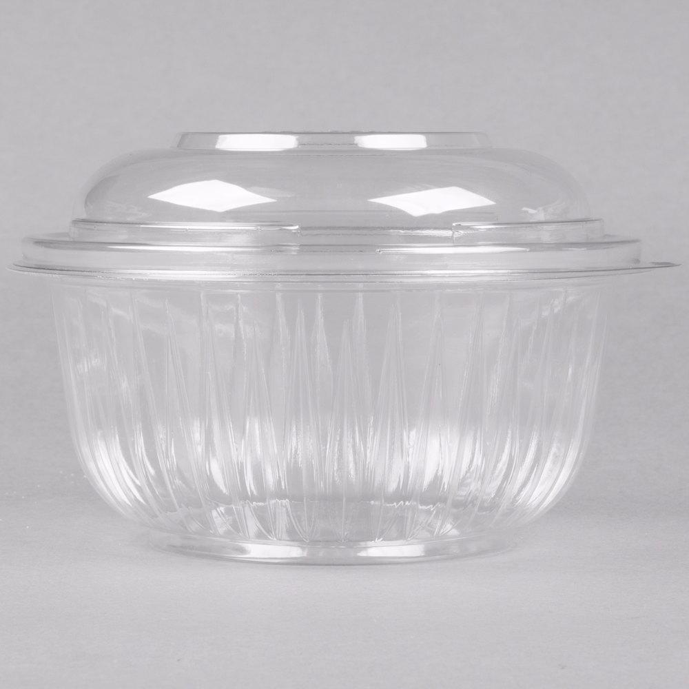 dart solo pet16bcd presentabowls 16 oz clear plastic bowl with dome lid 252 case. Black Bedroom Furniture Sets. Home Design Ideas