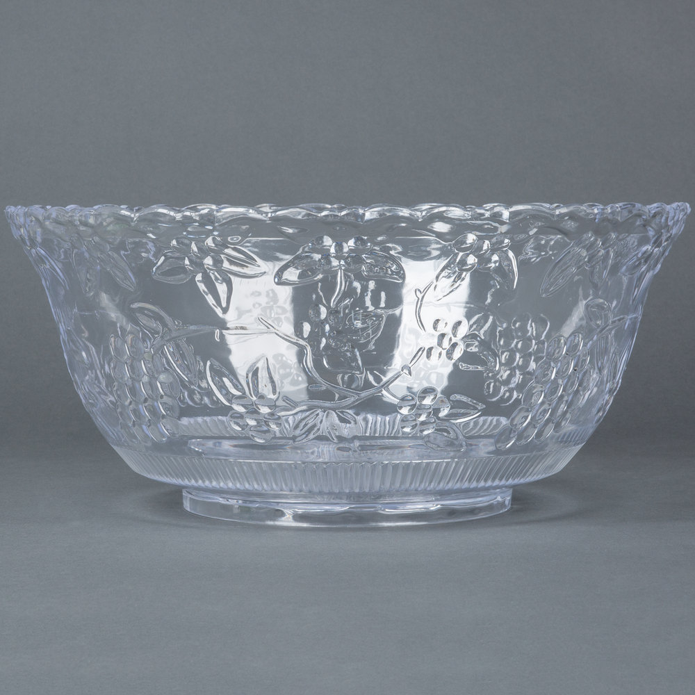 fineline platter pleasers 3508 8 qt clear plastic punch bowl. Black Bedroom Furniture Sets. Home Design Ideas