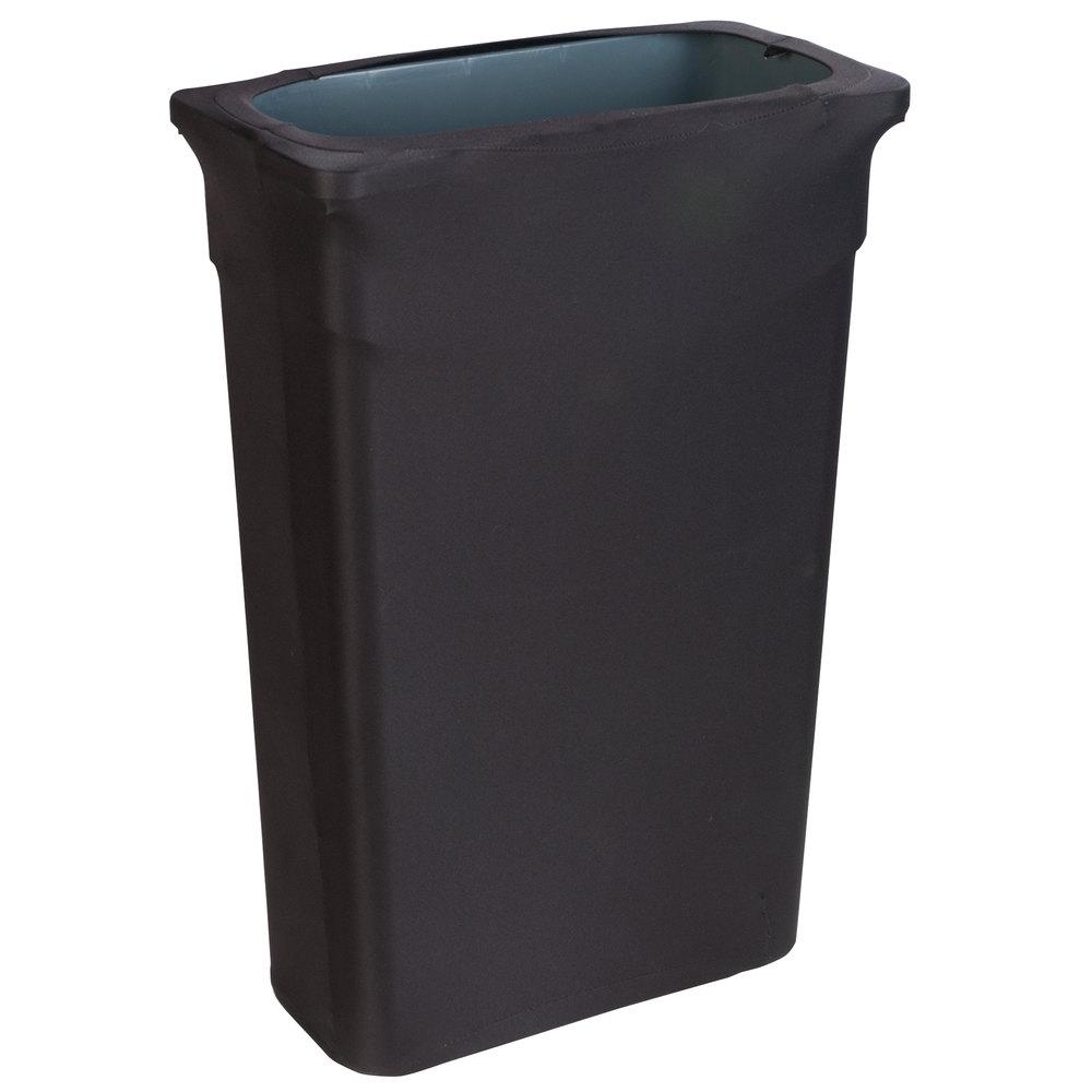 Marko Emb5026tlc23014 Embrace Trimline 23 Gallon Black Spandex Narrow Profile Waste Container Cover