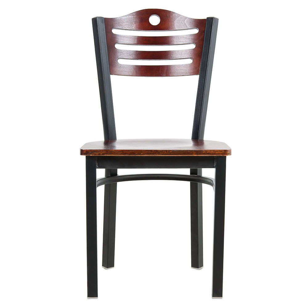 Lancaster Table Amp Seating Mahogany Finish Bistro Dining Chair