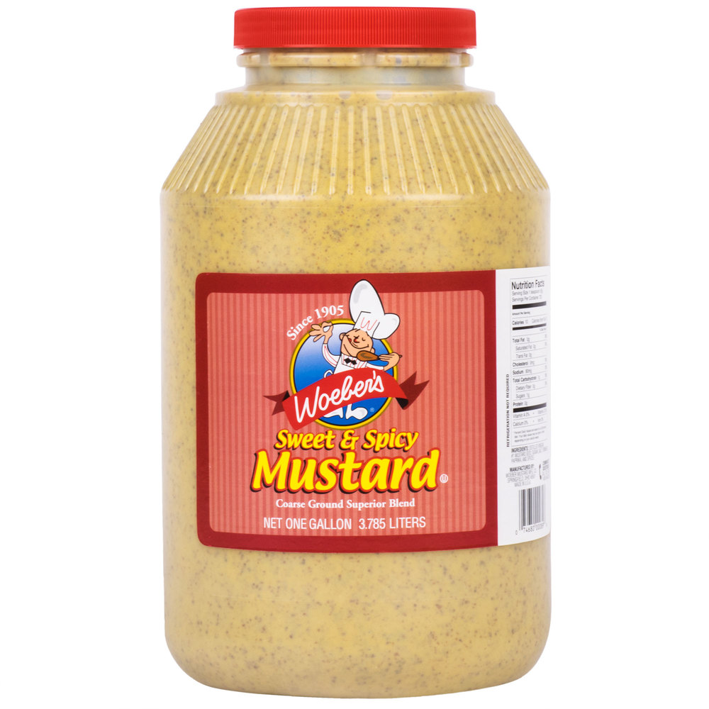 Woeber's 1 Gallon Sweet & Spicy Mustard - 4/Case