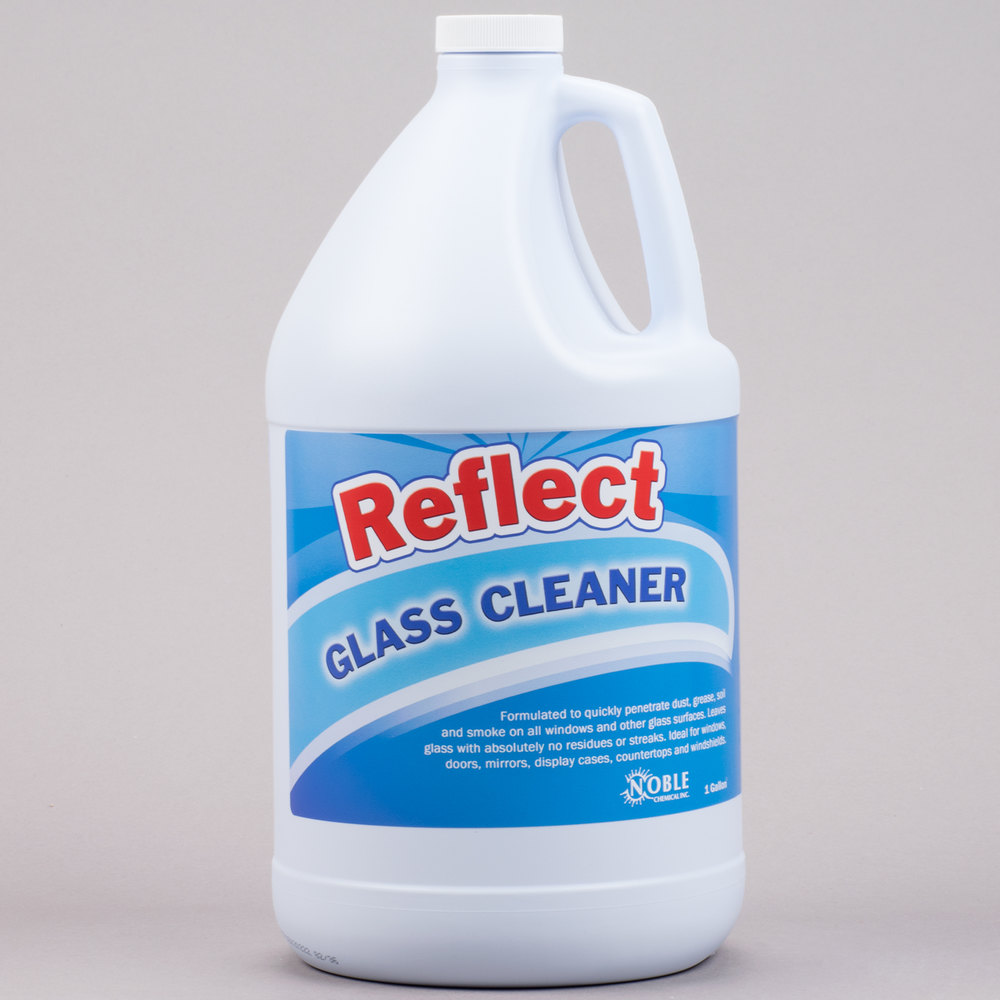 1 gallon noble chemical reflect glass cleaner ecolab for Window cleaner