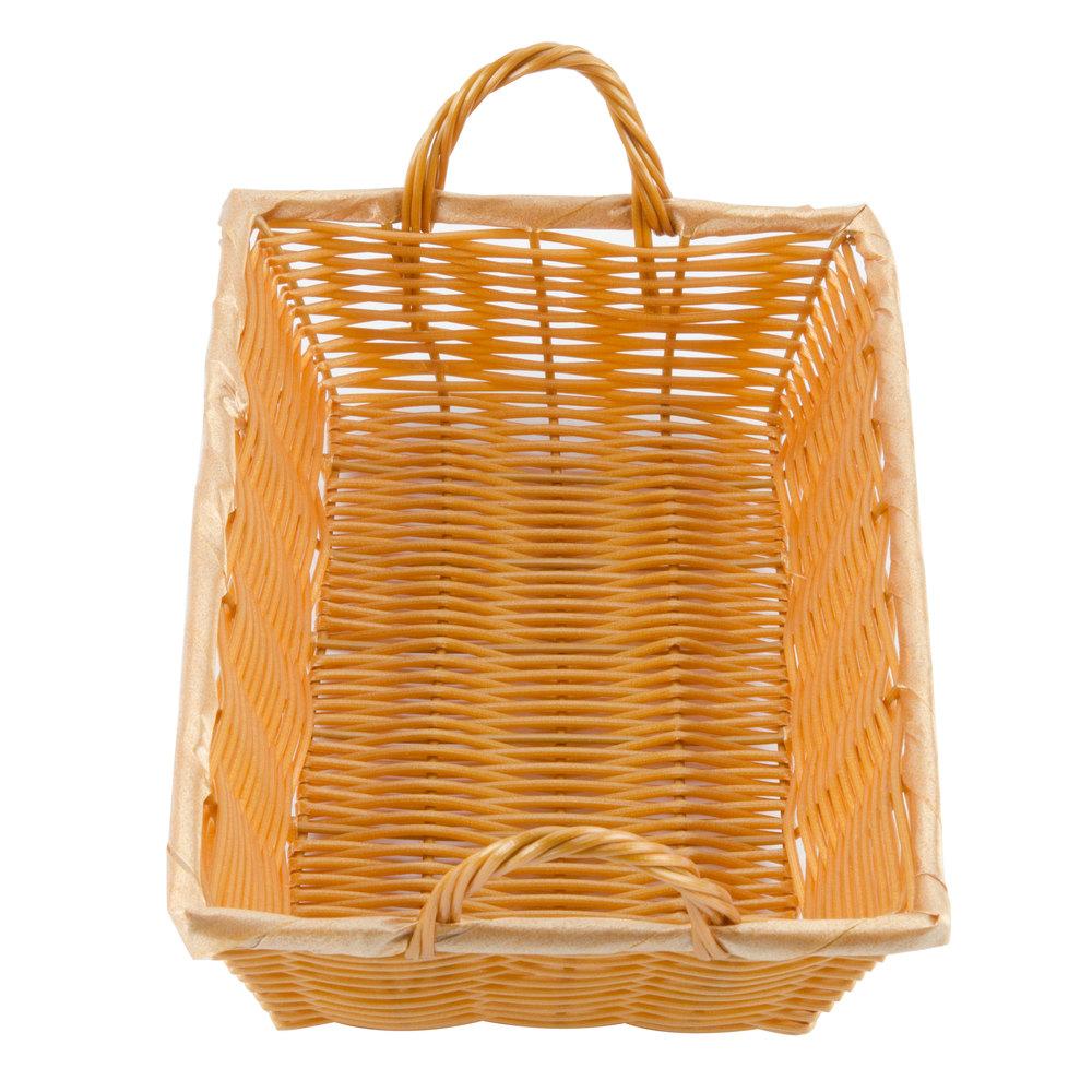12 x 8 x 3 rectangular woven basket with handles. Black Bedroom Furniture Sets. Home Design Ideas