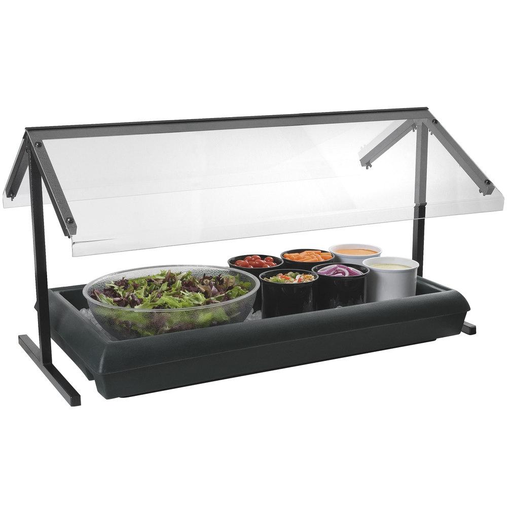 carlisle 767003 black 4 39 five star buffet bar tabletop food salad bar. Black Bedroom Furniture Sets. Home Design Ideas