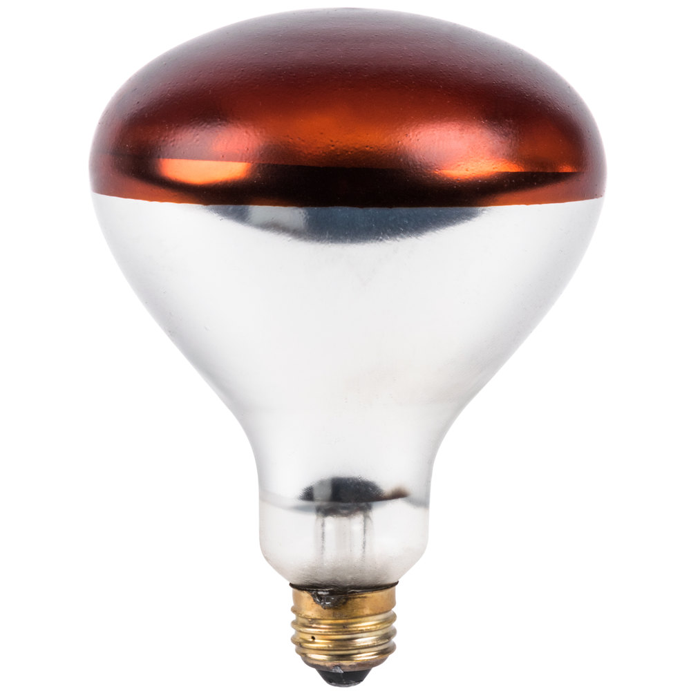 lavex janitorial 250 watt red coated infrared heat lamp light bulb. Black Bedroom Furniture Sets. Home Design Ideas