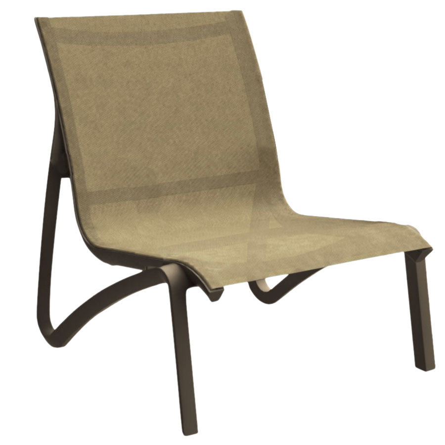 Grosfillex us001599 sunset cognac fusion bronze resin - Grosfillex chaise lounge chairs ...